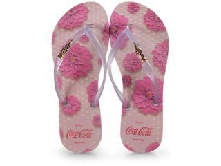 Chinelo Feminino Coca-cola Shoes Cc2672 Branco Cristal - Tamanho Médio