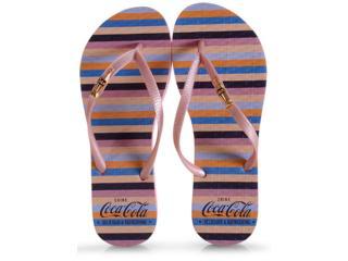Chinelo Feminino Coca-cola Shoes Cc2786 Gloss Rose - Tamanho Médio