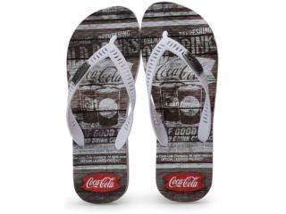 Chinelo Masculino Coca-cola Shoes Cc2680 Branco - Tamanho Médio