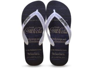 Chinelo Masculino Coca-cola Shoes Cc2180 Marinho/branco - Tamanho Médio
