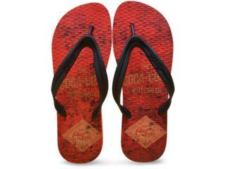 Chinelo Masculino Coca-cola Shoes Ccl2275 Vermelho/preto - Tamanho Médio