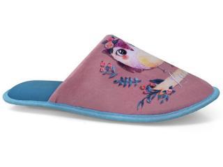 Chinelo Feminino Europa 869 Azul/bege - Tamanho Médio