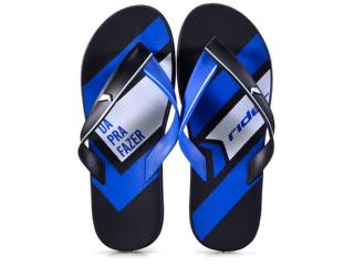 Chinelo Masculino Grendene 11354 23367 Rider Jam Ultra Preto/azul - Tamanho Médio