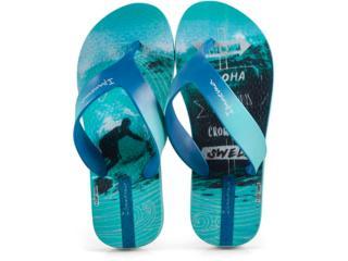 Chinelo Masc Infantil Grendene 25759 22292 Ipanema Deck Inf Azul/verde - Tamanho Médio