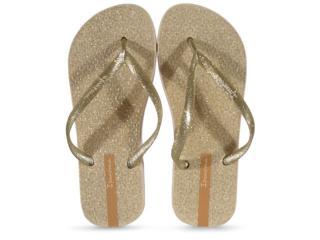 Chinelo Feminino Grendene 26481 25229 Ipanema Glitter Bege/ouro Glitter Prata - Tamanho Médio