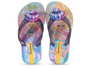 Chinelo Fem Infantil Grendene 26380 25163 Ipanema Barbie Sereia Azul Gliter Misto - Tamanho Médio