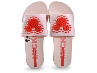 Chinelo Feminino Grendene 26425 20168 Ipanema Disney Slide Rosa/vermelho - Tamanho Médio