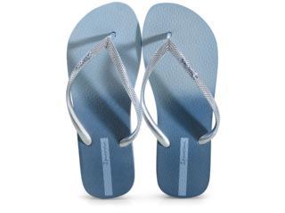 Chinelo Feminino Grendene 26580 25385 Ipanema Blush Azul Metalizado - Tamanho Médio