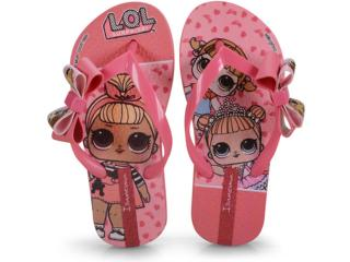 Chinelo Fem Infantil Grendene 26350 20791 Ipanema Lol Suprise Iii Rosa/rosa - Tamanho Médio