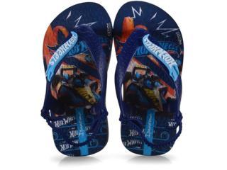 Chinelo Masc Infantil Grendene 26071 25037 Ipanema Hot Wheels Baby  Azul - Tamanho Médio
