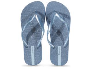 Chinelo Feminino Grendene 26481 25231 Ipanema Glitter Azul Gliter Prata - Tamanho Médio