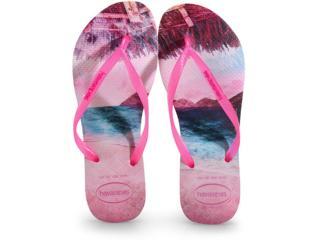 Chinelo Feminino Havaianas Slim Paisage Candy Pink - Tamanho Médio