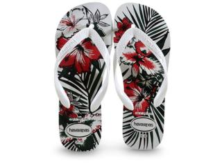 Chinelo Masculino Havaianas Aloha Branco/preto - Tamanho Médio