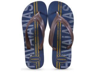 Chinelo Masculino Havaianas Top Max lg Mania Azul Indigo - Tamanho Médio