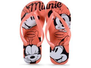 Chinelo Feminino Havaianas Top Disney cf Laranja Cyber - Tamanho Médio