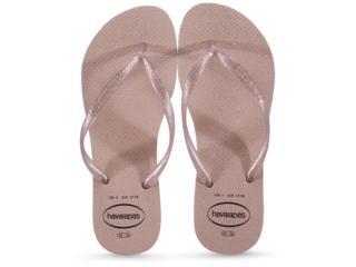 Chinelo Feminino Havaianas Slim Gloss fc Rosa Ballet - Tamanho Médio