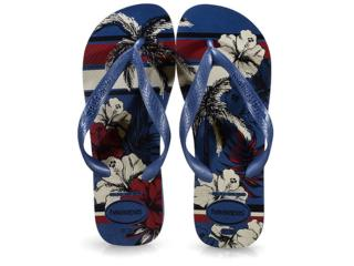 Chinelo Masculino Havaianas Aloha Azul Indigo - Tamanho Médio