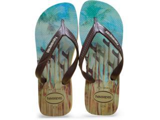 Chinelo Masculino Havaianas Surf Areia/café - Tamanho Médio