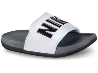 Chinelo Masculino Nike Bq4639-001 Offcourt Slide Branco/preto - Tamanho Médio