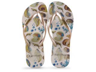 Chinelo Feminino Rafitthy 222.91702  Sea Love Dourado - Tamanho Médio