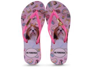 Chinelo Feminino Rafitthy 110.01702 Shitzu 90s Pink - Tamanho Médio