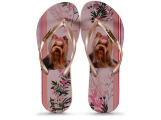 Chinelo Feminino Rafitthy 110.01702 York Blossom Stripes Nude/dourado - Tamanho Médio