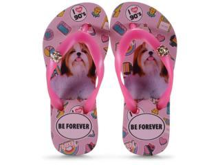 Chinelo Fem Infantil Rafitthy 118.01701 Shitzu 90s Pink - Tamanho Médio