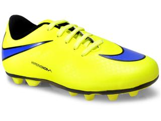 Chuteira Masc Infantil Nike 599073-758 jr Hypervenom Phade Fg-r  Amarelo Limão/roxo - Tamanho Médio