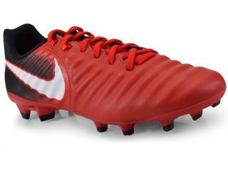 Chuteira Masculina Nike 897744-616 Tiempo Ligera iv fg Vermelho/preto/branco - Tamanho Médio