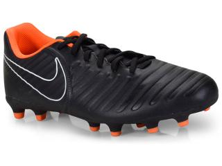 Chuteira Masculina Nike Ah7251-080 Tiempo Legend 7 Club Preto/laranja - Tamanho Médio