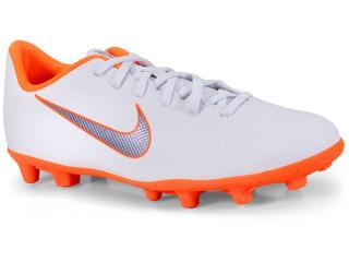 Chuteira Masculina Nike Ah7378-107 Mercurial Vapor 12 Club Branco/laranja - Tamanho Médio