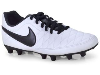 Chuteira Masculina Nike Aq7902-107 Majestry fg Branco/preto - Tamanho Médio
