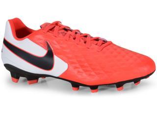 Chuteira Masculina Nike At5292-606 Tiempo Legend 8 Academy Coral/branco/preto - Tamanho Médio
