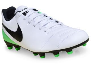 Chuteira Masculina Nike 819233-103 Tiempo Rio Iii Branco/verde/preto - Tamanho Médio