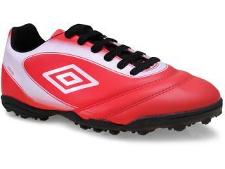 Chuteira Masculina Umbro Of71032-421 Vermelho/branco/preto - Tamanho Médio