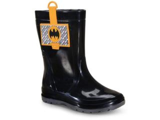 Galocha Masc Infantil Grendene 22561 53212 Liga da Justiça Preto/amarelo - Tamanho Médio