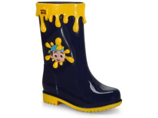 Galocha Masc Infantil Grendene 22291 50877 Luccas Neto Adventure Azul/amarelo - Tamanho Médio