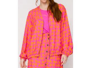 Jaqueta Feminina Coca-cola Clothing 323200641 Vb101 Pink/laranja - Tamanho Médio