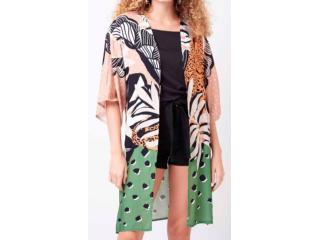 Kimono Feminino Mercatto 2836664  050 Estampado - Tamanho Médio