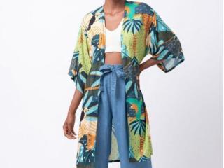 Kimono Feminino Mercatto 2837081 114 Estampado - Tamanho Médio