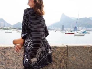 Kimono Feminino Mercatto 2837162 045 Preto/branco - Tamanho Médio