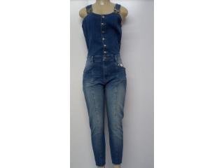 Macacão Feminino Lado Avesso L114093 Jeans - Tamanho Médio