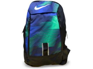 Mochila Unisex Nike Ba5224-480 Preto/verde/azul - Tamanho Médio