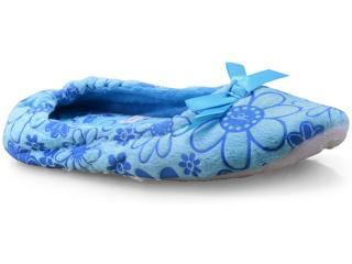Pantufa Feminina Gasf 5670 Azul - Tamanho Médio
