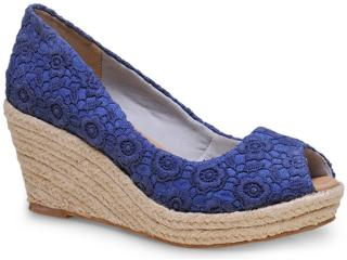 Peep Toe Feminino Brenners 9006-1 Azul - Tamanho Médio