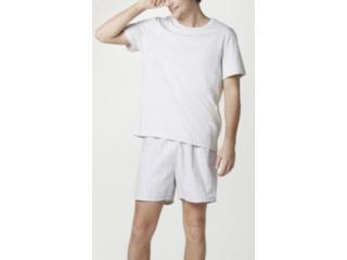 Pijama Masculina Hering Q8au 1cen Mescla/cinza Xadrez - Tamanho Médio