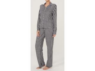 Pijama Feminina Hering 7cek 1den Preto/branco - Tamanho Médio