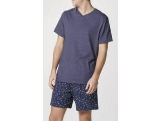 Pijama Masculina Hering 76wx Mf3en  Marinho Estampado - Tamanho Médio
