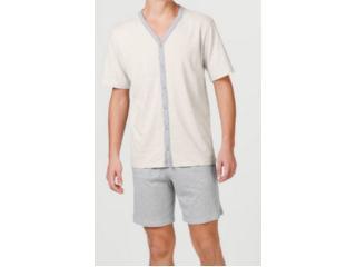 Pijama Masculina Hering For You 7bwr Md2en Off White Cinza - Tamanho Médio