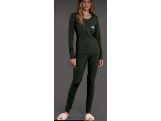 Pijama Feminina Lua Lua 410275 Verde Escuro - Tamanho Médio